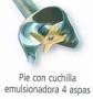 PIE DE 190 MM CON CUCHILLA EMUSIONADORA PARA DKMIX