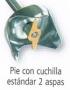 PIE DE 190 MM CON CUCHILLA STANDARD PARA DKMIX